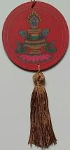 Mandala para Decoração Símbolos Auspiciosos - Vaso